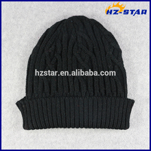 HZM-16261001 beanie hunting camping winter warm black hat