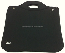 Black neoprene waterproof shockproof with attachable shoulder strap handle laptop bag/case for 15""
