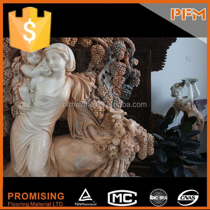 PFM Chinese handmade vivid stone sculpture marble nude lady statue sculpture