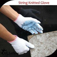 SRSAFETY cheap price/knit cotton glove for carrying use