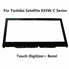 "14"" WITH Bezel Touch Screen Glass Digitizer Replacement For Toshiba Satellite E45W-C4200X"