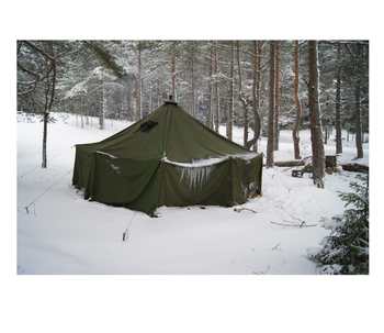 Military army green waterproof canvas winter caping tent party shelter