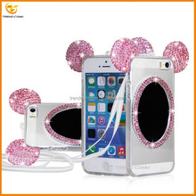 Lower price latest hot diamond mirror tpu <strong>case</strong> for i5