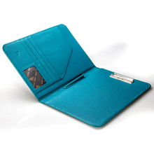 Full Grain Genuine Pebble Leather A4 Clipboard File Folder With Pockets