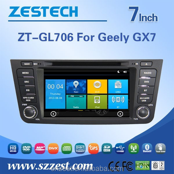 MADE IN CHINA 7 inch headrest car dvd player for GEELY GX7 car dvd player multimedia