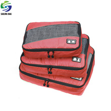 Factory Wholesale promotional lightweight cloth packing cubes travel organizer bag