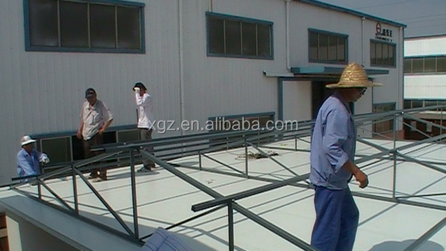 Flat roof steel structure prefabricated residential houses