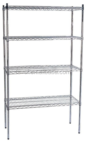 Chrome metal wire removable goods storage basket rack