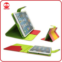 2013 New Hybrid Pouch Stand Smart Flip Leather Case for Ipad Mini