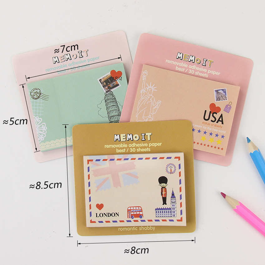Korean Cute Kawaii Post It Planner Diary Scrapbooking Sticker Sticky Notes Memo Pads Stationery Notebook Office Supplies