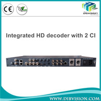Professional dvb-s/s2/t/t2/atsc/isdb-t ip asi digital satellite receiver decoder with BISS mode