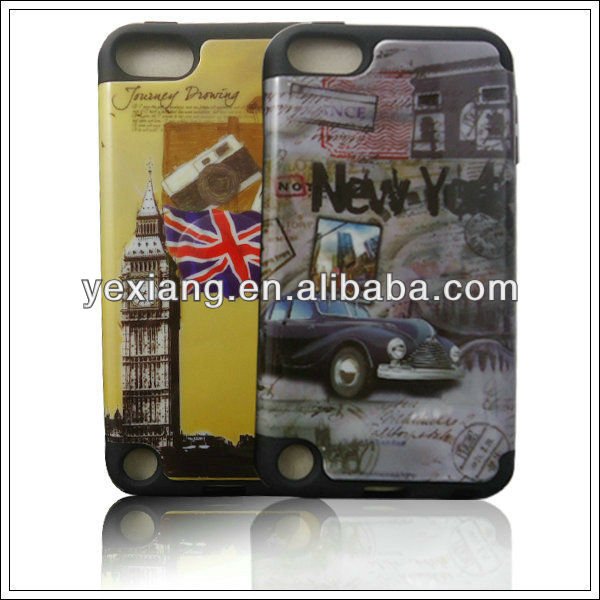 High quality hard case for ipod touch 5 5th generation double protect case