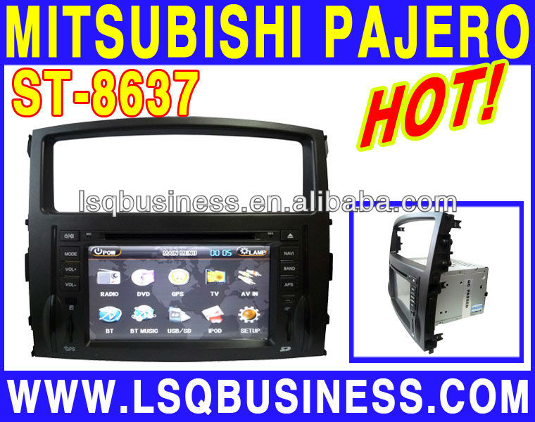 GPS navigation/car stereo/car multimedia player for MITSUBISHI PAJERO,ST-8637