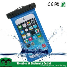 beach swimming clear pvc waterproof bag for mobile phone iphone 6