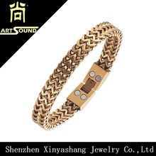 Small Quantity Accepted Gold Hand Chain Bracelet for Men