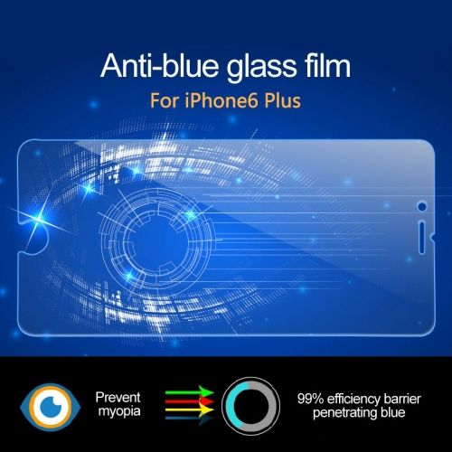 Ultrathin 0.3mm 2.5D Anti Blue Light Tempered Glass Screen Protector for iPhone 6 Plus