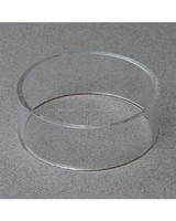 Clear Circle Acrylic Ball Display Tub, Acrylic Basketball, Football, Volleyball, Soccer, Softball Display Stand