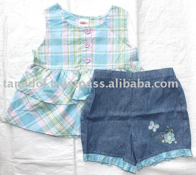 Sell Girls 2 pcs set - sleeveless,childrens clothing,children wear,kid clothes