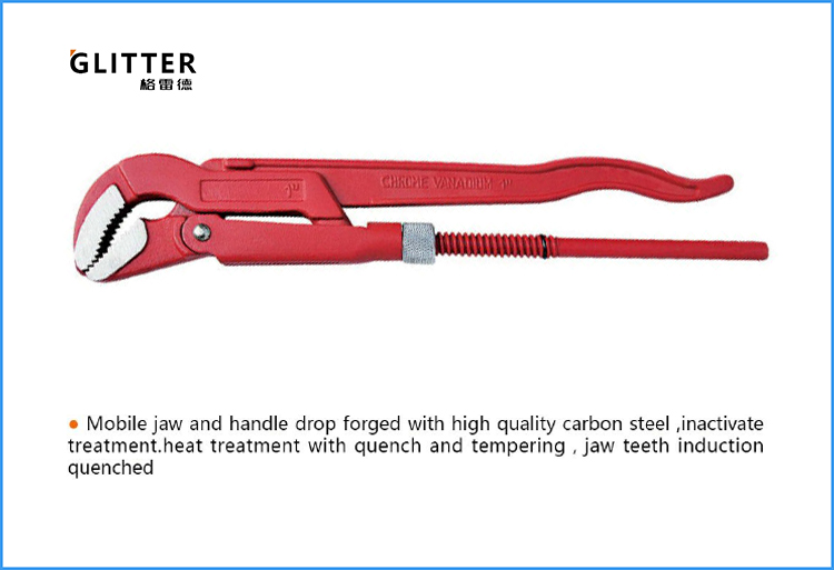 BTP09 45 Degrees Heavy Duty Swedish Pipe Wrench