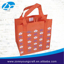 Qualitied eco-friendly nonwoven shopping bag with hanging hook