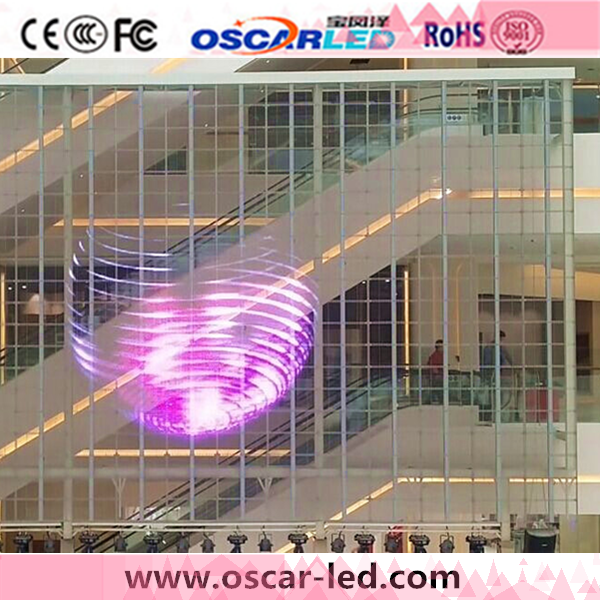 led display transparent glass window/wall panel board XT8 advertising video led glass board rgb display