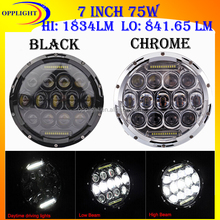 High low beam mini jeep wrangler utv 4x4 Motorcycle 7' 75w car led headlight