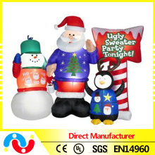 2015 New Products Christmas 5ft Inflatable Lighted Santa Decoration for Wholesale