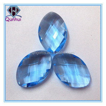 fire blue marquise shaped cubic zirconia stone