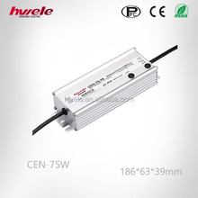 CEN-75WHigh Capacity 12V 3.15A 75W LED dimmable power supply/IP 65 AC to DC SMPS with KC ROHS CE certification