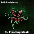 Wholesale fashion el wire mask,el flashing mask,led mask for Halloween Christmas and any festivals