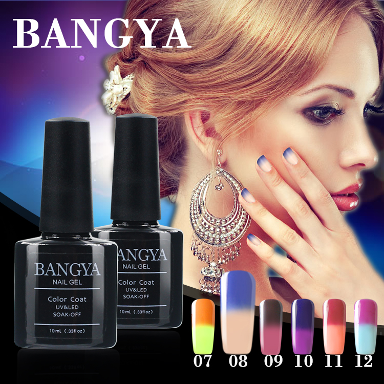 nail polish color change 36 colors Temperature gel polish soak off gel nail polish with 10ml bottle