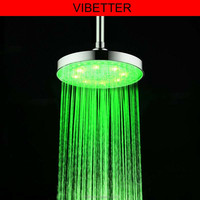 DP-C02 8'' inch round waterfall shower head Bathroom LED Rainfall Shower Head