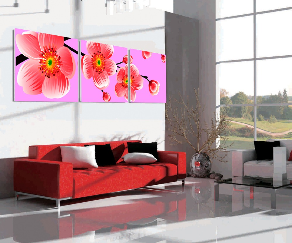 Home Hotel Decorative High Quality 3pcs Canvas Wall Art Famous Orchid Flower Painting
