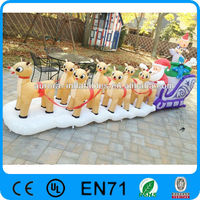 inflatable christmas animated rudolph reindeer santa sleigh sled