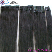 Top remy high quality Tangle Free Non Clip Hair Extensions