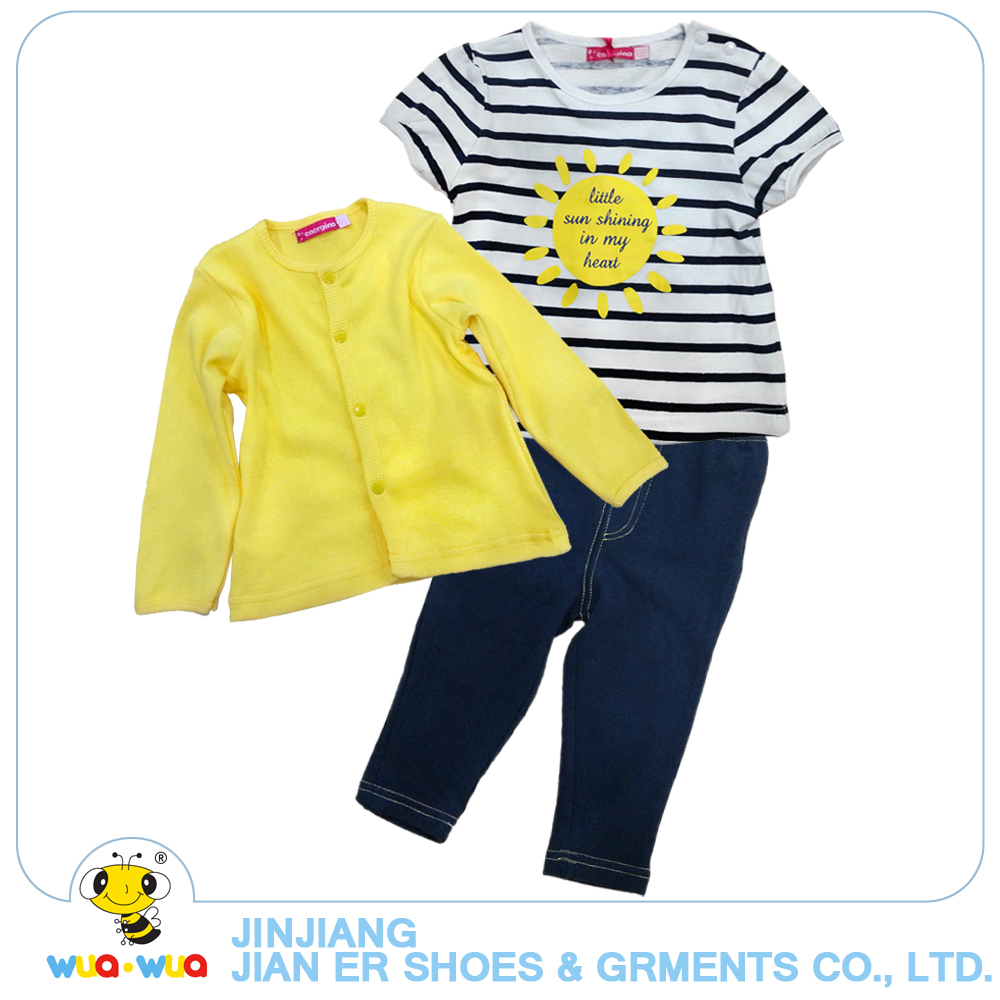 Online shopping baby girl clothes summer 3 pcs suit