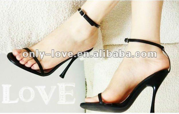 BS395 high heel ladies black evening sandals party sandal