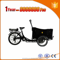 cargo bakfiets electric flatbed tricycle cargo trike