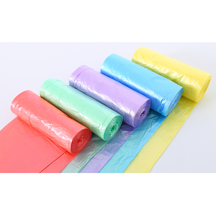 China best mutlicolor plastic garbage bag on roll
