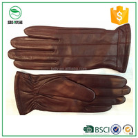 High quality women's leather gloves ladies fashion dresses sheepskin leather parade gloves