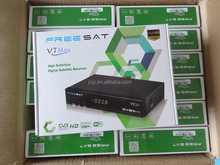 Stocks for original Freesat V7 Max powervu autoroll hd DVB-S2 digital satellite receiver with RF,bisskey cccam, youtube