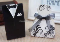 bride and groom wedding gift candy favor packing box