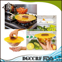 NBRSC Competitive Factory Price 11-inches Sunflower Lid Silicone Suction Bowl Lid Food Cover