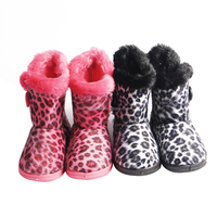 winter faux suede kids cool camo snow boot