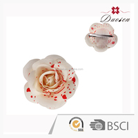 China wholesale white with red spot mini flower hair clip DSXS4127