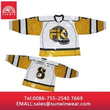 Fashion ice hockey jersey team canada with number and names/ sublimation ice hockey jersey
