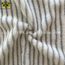 White And Grey Color Stripe Microfiber Twisted Pile Yarn Dyea Mop Heads Mop Replacement Pads Fabric With Hard Wire