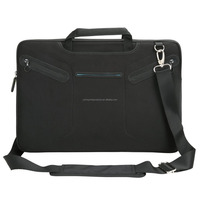 "Black 17""-17.3"" Neoprene Laptop Messenger Bag with Carry Strap Notebook Multi-functional Case Tote Bag"