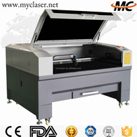 The lowest price for co2 cnc cloth / leather / carton labels laser cutting machine MC1390