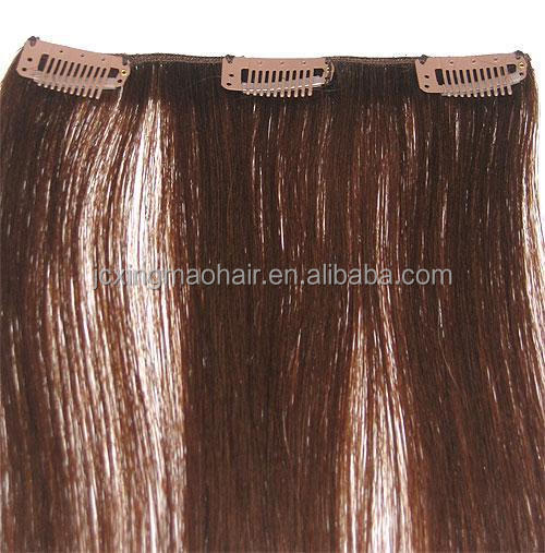 Wholesale silk straight fashion clip hair extensions dubai